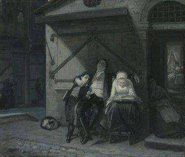 Sabbath-Ruhe auf der Gasse,  1866, Moritz Daniel Oppenheim