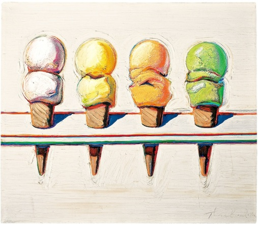 four-ice-cream-cones-1964-painting-artreport